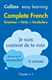 Easy Learning French Complete Grammar, Verbs and Vocabulary (3 books in 1) (Collins Easy Learning French) (French Edition)