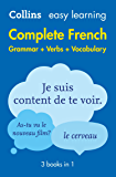 Easy Learning French Complete Grammar, Verbs and Vocabulary (3 books in 1) (Collins Easy Learning) (French Edition)