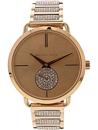 1321736b7c0b Image Unavailable. Image not available for. Color  Michael Kors Women s  Portia MK3853 Rose-Gold ...