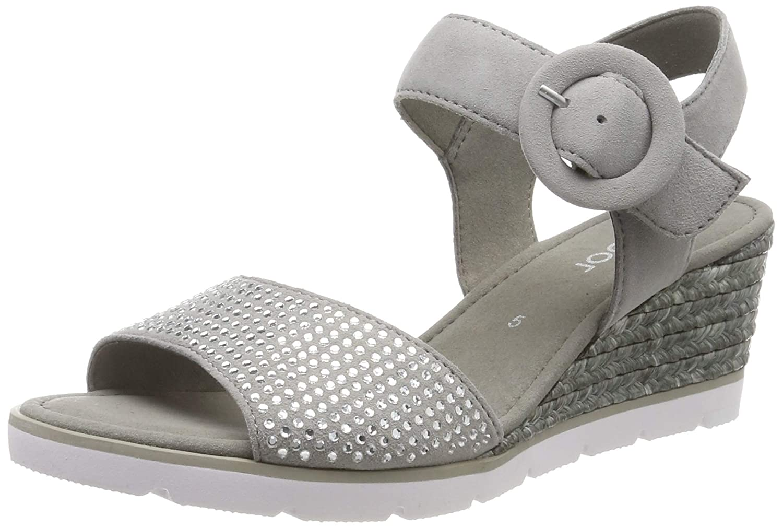 gris (gris 19) Gabor chaussures Gabor Basic, Sandales Bride Cheville Femme