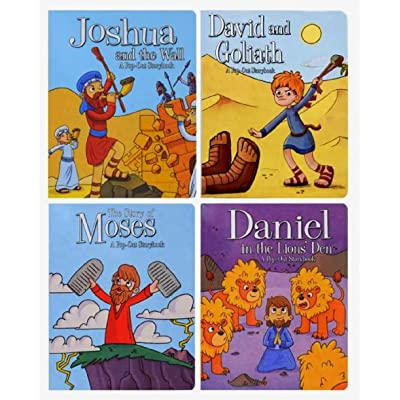 Pop-Out Storybooks (Set of 4 Books): Daniel in The Lion's Den, David and Goliath, Joshua and The Wall, & The Story of Moses: Toys & Games