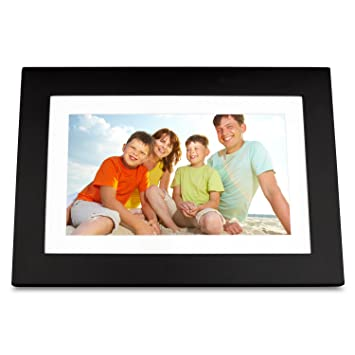 viewsonic vfd1028w 11 101 inch digital photo frame features high resolution 1024x600 black