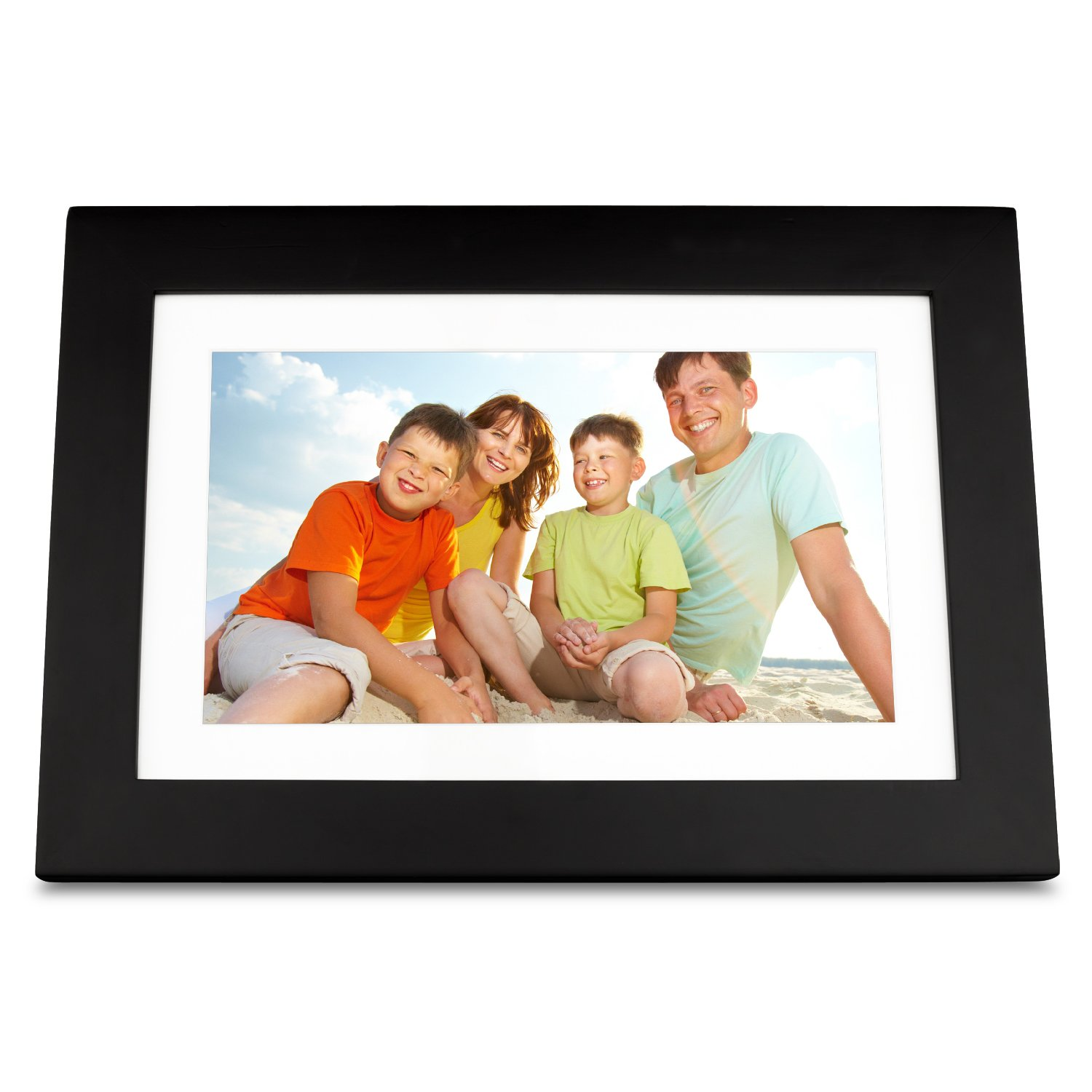 ViewSonic VFD1028W-11 10.1-Inch Digital Photo Frame Features High Resolution 1024x600 (Black) by ViewSonic