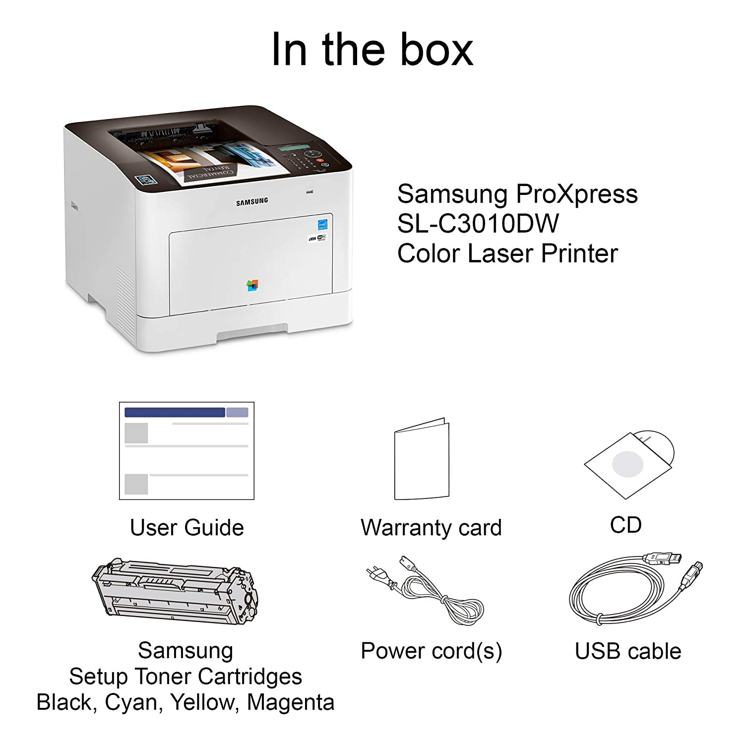 Amazon.com: Samsung ProXpress C3010DW Wireless Color Laser Printer with  Mobile Connectivity, Duplex Printing, Print Security & Management Tools, ...