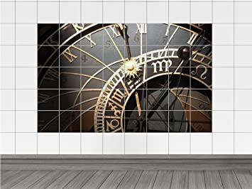 Piastrelle adesivo piastrelle immagine orologio numeri tempo sole