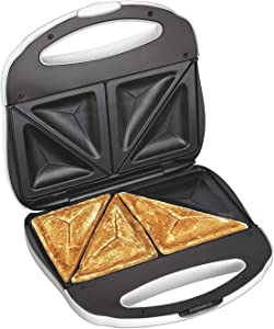 J-Jati Sandwich Maker, Panini Press + Electric Sandwich Maker Toasting, Grilling, Waffles, Omelettes, Breakfast, Lunch, dinner, Sandwich Toaster, white