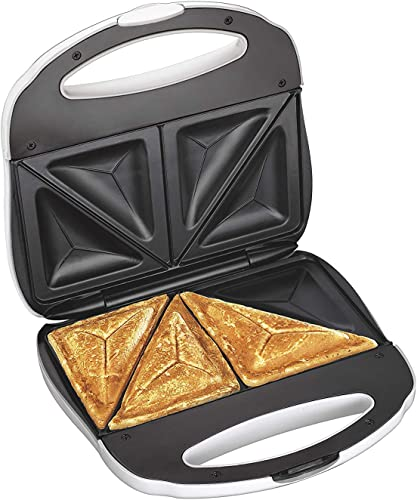 J-Jati Sandwich Maker, Panini Press Electric Sandwich Maker Toasting, Grilling, Waffles, Omelettes, Breakfast, Lunch, dinner, Sandwich Toaster, white