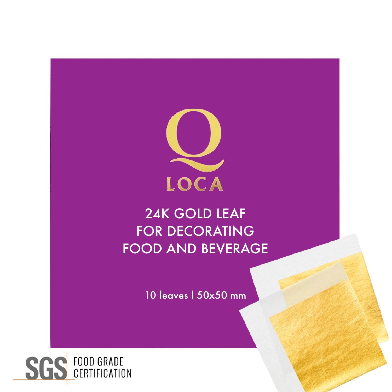 Q-loca 24K Gold Leaf 10 sheets, size 50x50 mm