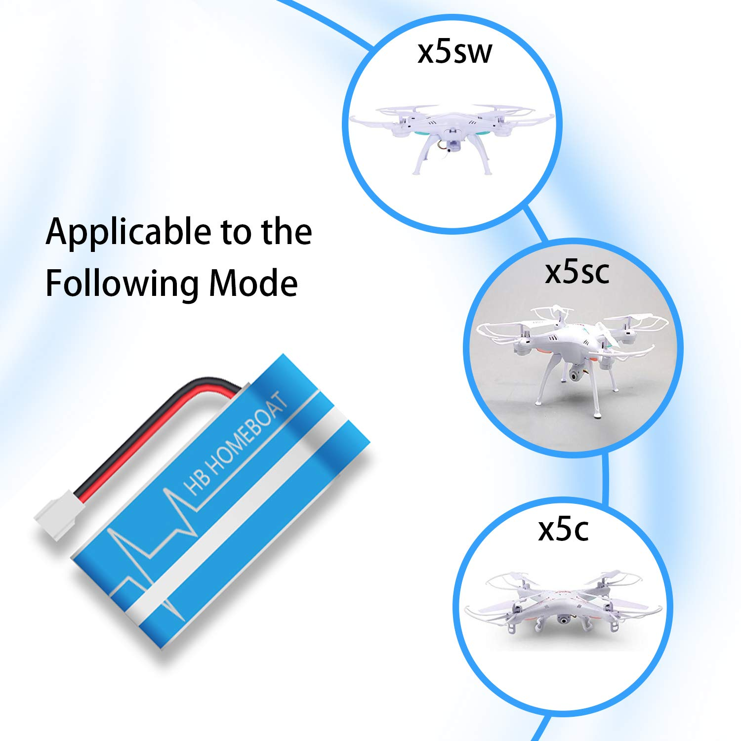 Abree Syma X5C X5SC X5SW Battery 3.7V 600mah Rechargeable Li-po Battery Max 2.5a Current Input Fast Battery Charger 4