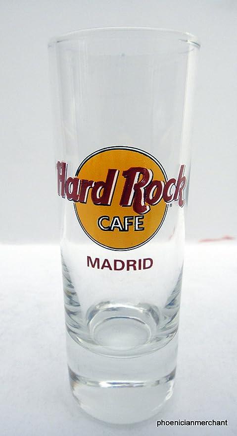 Hard Rock Cafe Madrid España letras rojas Cordial vidrio de tiro tirador: Amazon.es: Hogar