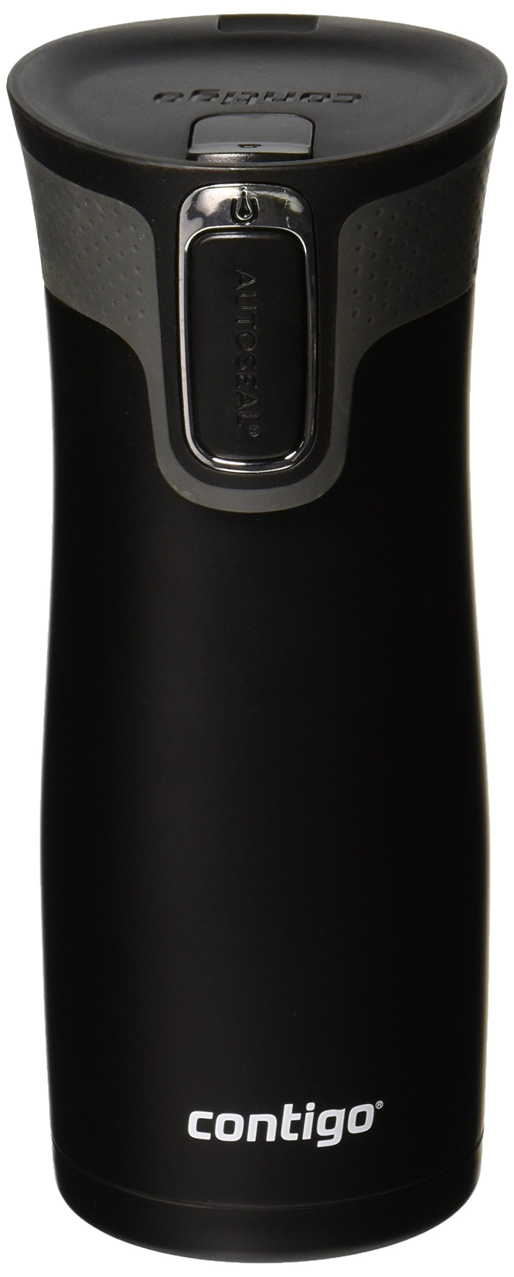 Contigo Autoseal West loop Stainless Steel Travel Mug with Easy-Clean Lid, 16 ounce Matte Black