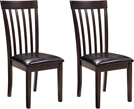 Amazon Com Signature Design By Ashley Hammis Dining Room Chair Dark Brown Chairs