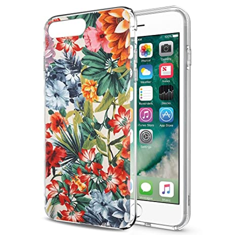 de2eec596c9 Eouine Funda iPhone 8, Funda iPhone 7, Cárcasa Silicona 3D Transparente con  Dibujos Diseño