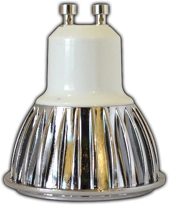 Pack de 2 x GU10 LED de intensidad regulable, 7 W, 220/230 V Bombilla Foco luz blanca cálida Bombilla reflector para regulador de intensidad: Amazon.es: Iluminación