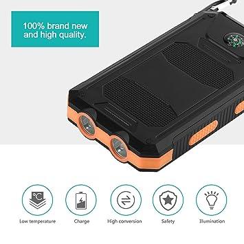 Ballylelly 300000mAh Dual USB Impermeable Banco de energía ...