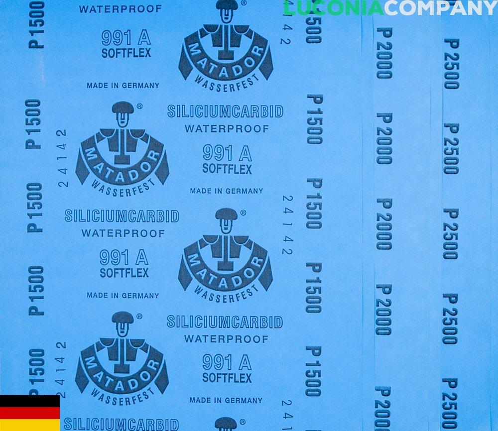 6-sheets Lot de pr/écision polissage pon/çage abrasif imperm/éable/ /humide//sec Grain 1500/2000/2500/Softflex Allemagne