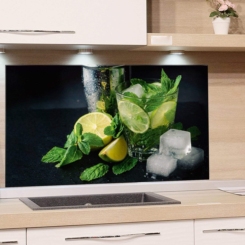 GRAZDesign Rückwand Küche Limetten - Küchen Spritzschutz Herd Caipirinha -  Küchenrückwand Glas Cocktail / 49x49cm