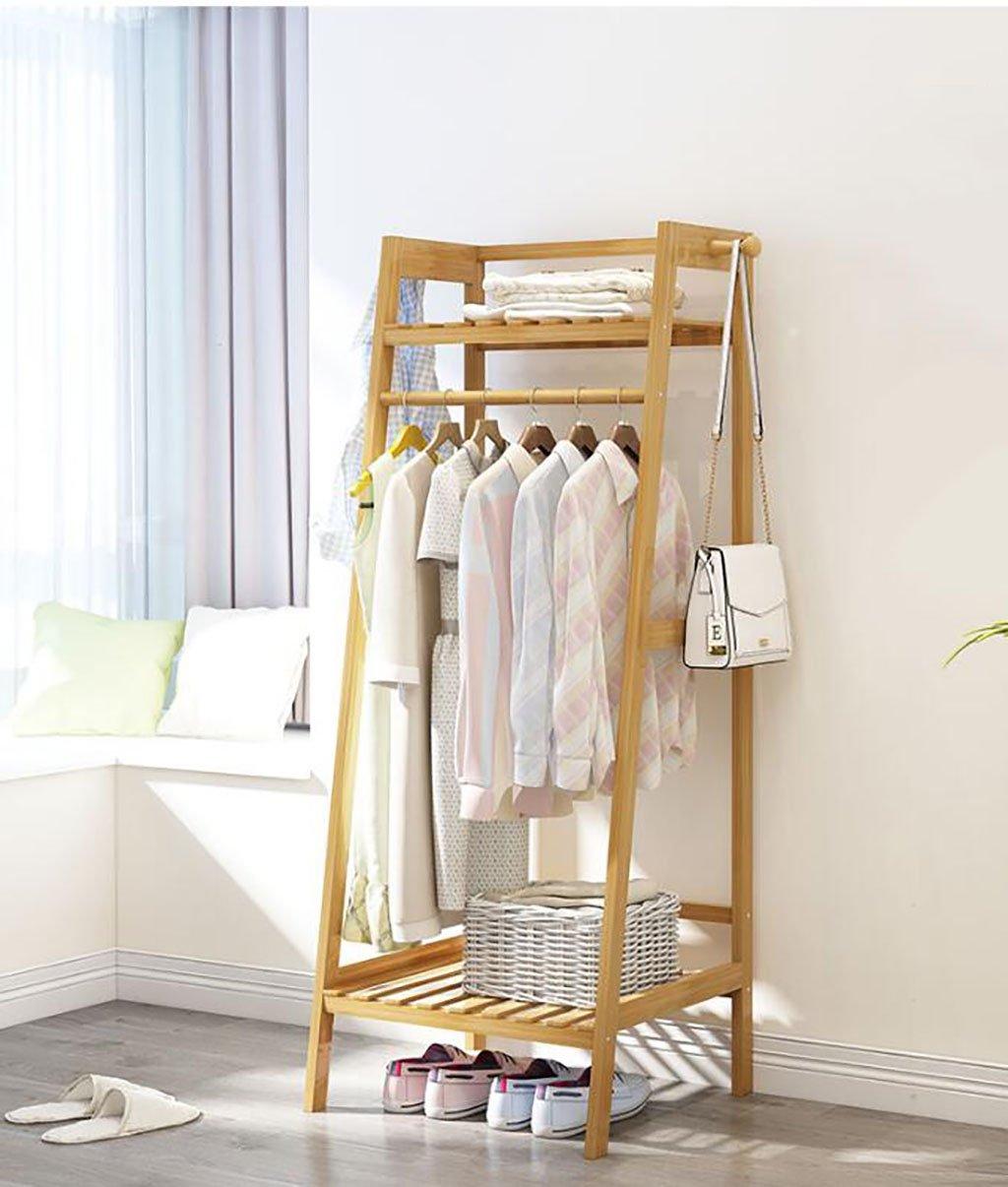 1405040cm Simple Coat Rack Solid Wood Bedroom Hanger Floor Rack Storage Rack Simple Modern Clothes Rack Shelf (Size   140  50  40cm)