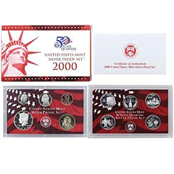 2000 US MINT SILVER  PROOF SET 10 COINS