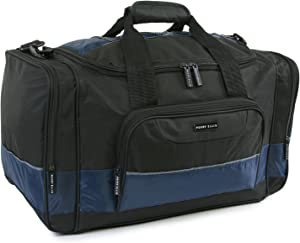 "Perry Ellis 22"" Business Duffel Bag, Black/Navy, One Size"