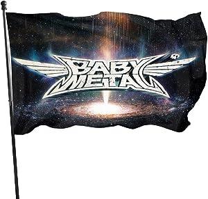 Babymetal Metal Galaxy Garden Flag Welcome Home House Yard Banner Decorative Flag 3x5 Ft