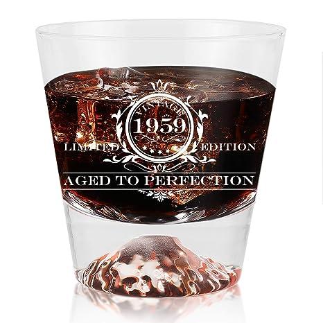 Amazon.com: Vaso de vino vintage para regalo de cumpleaños ...