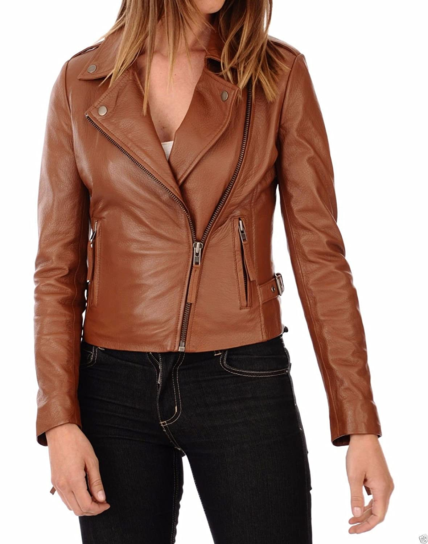 Blacks2 DOLBERG CREATIONS Sheepskin Leather Jacket Womens