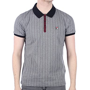 FILA VINTAGE BB1 Polo Shirt   Grey Twist XLarge 42