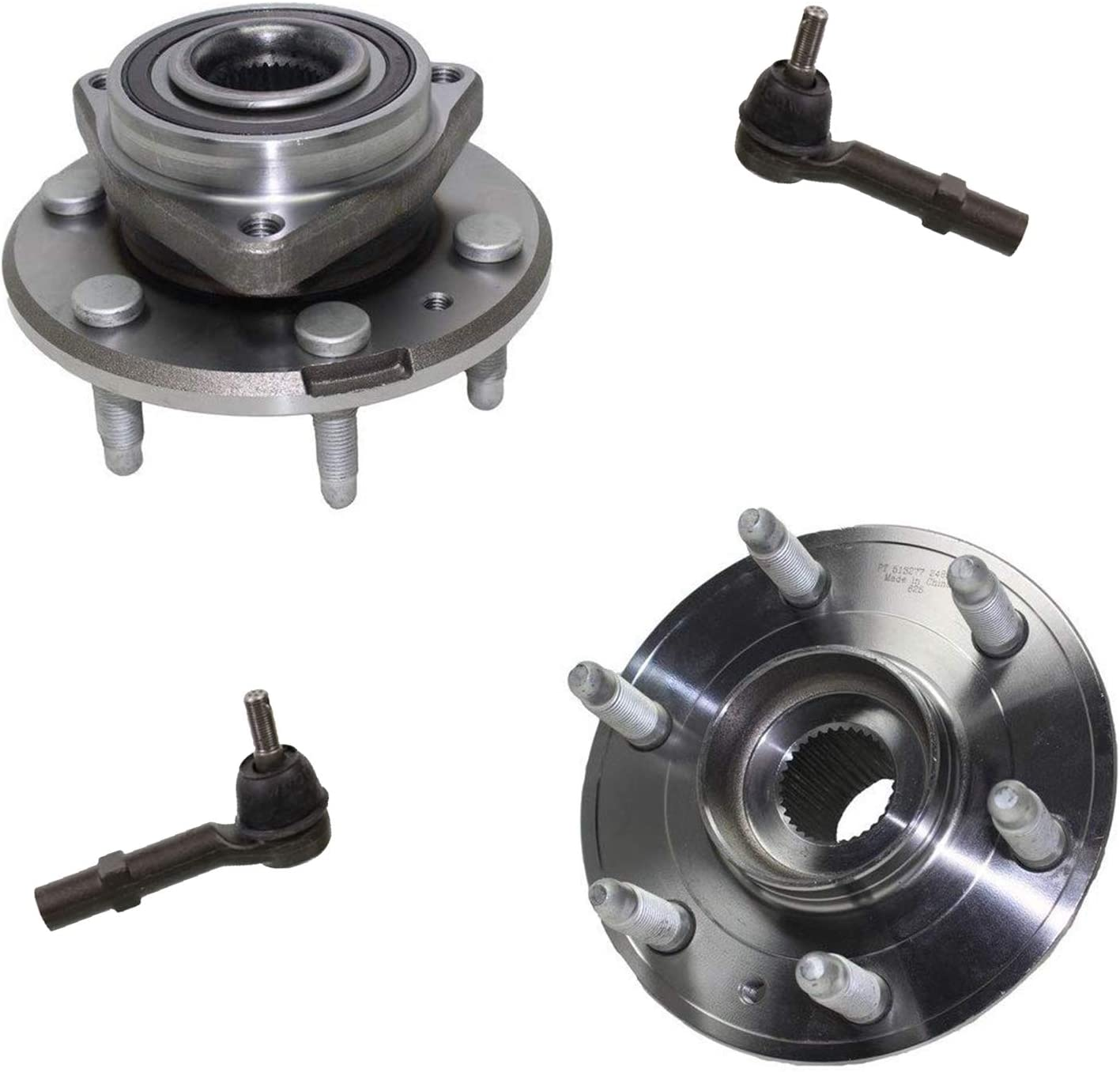 2007-2010 Saturn Outlook 2009-2015 Chevy Traverse 4pc Front or Rear Wheel Bearing /& Hubs w//ABS Detroit Axle Front Outer Tie Rods for 2008-2015 Buick Enclave - - 2007-2015 GMC Acadia -