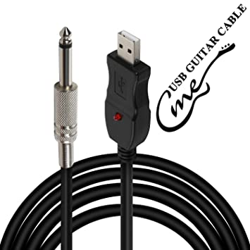Cable USB para Guitarra, Interfaz USB de PC a Conector de 6,55 mm ...