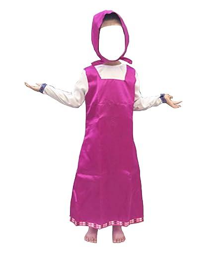 d3ee4c76e8b2 VersusModa Simile Masha Vestito Carnevale Bambina Cosplay Costume Masha  Bear Dress MASHA01: Amazon.it: Abbigliamento