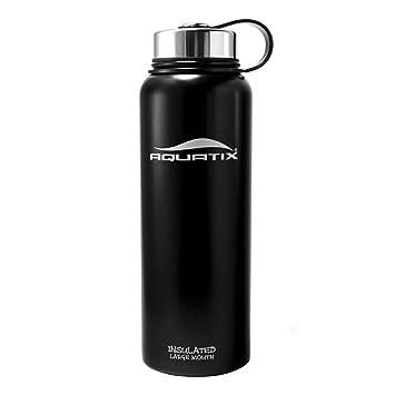 Amazon.com: aquatix grande boca botella de agua, negro ...