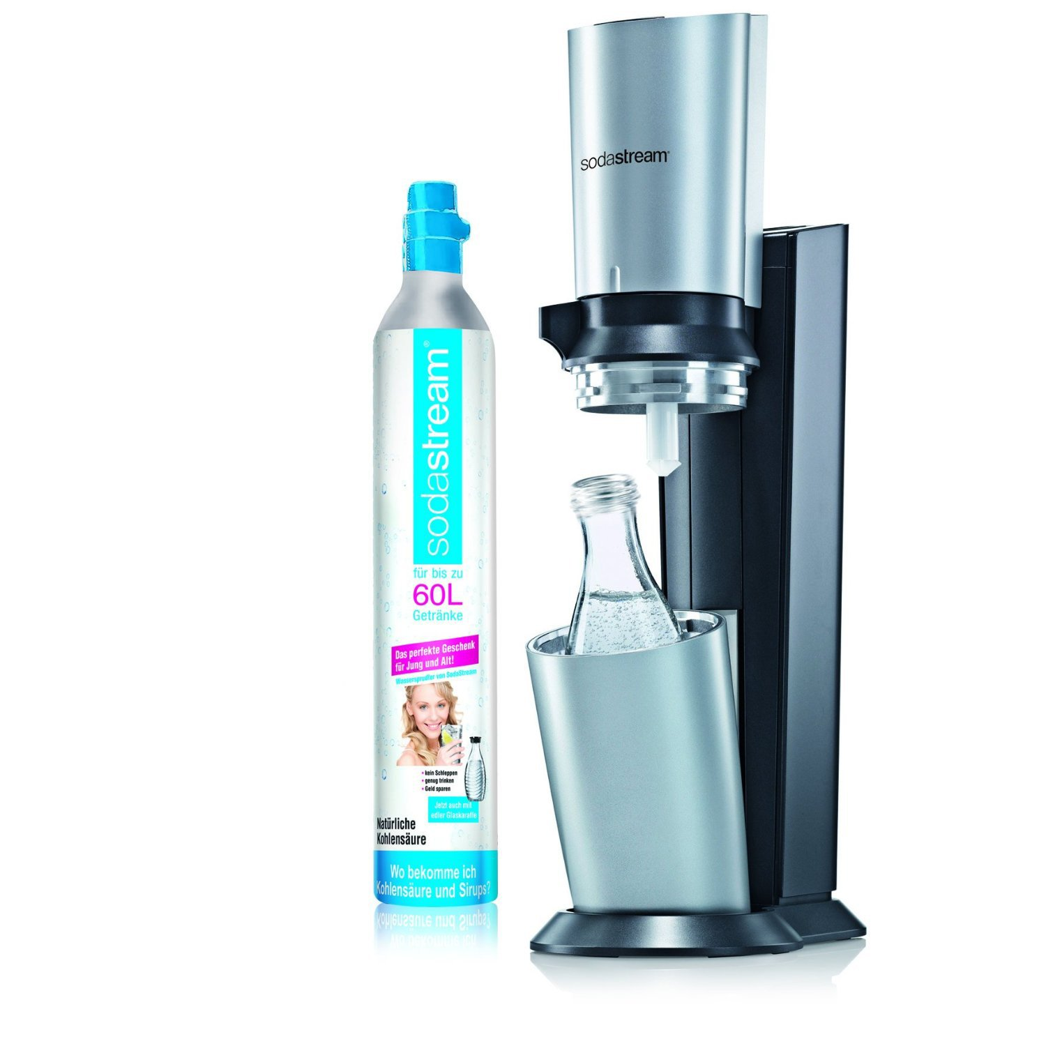 SodaStream Crystal Sparkling Water Maker - Black and Silver with ...