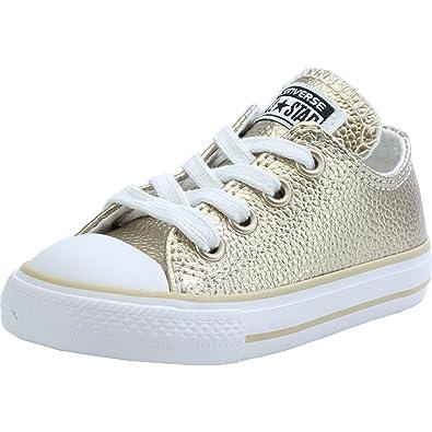Infant 22 Converse Taylor Metallic Chuck Star Light Gold Leather All wXx6wvrqz