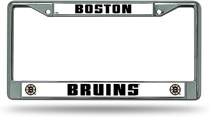 Boston Bruins NHL Rico Industries  Laser Inlaid Metal License Plate Tag
