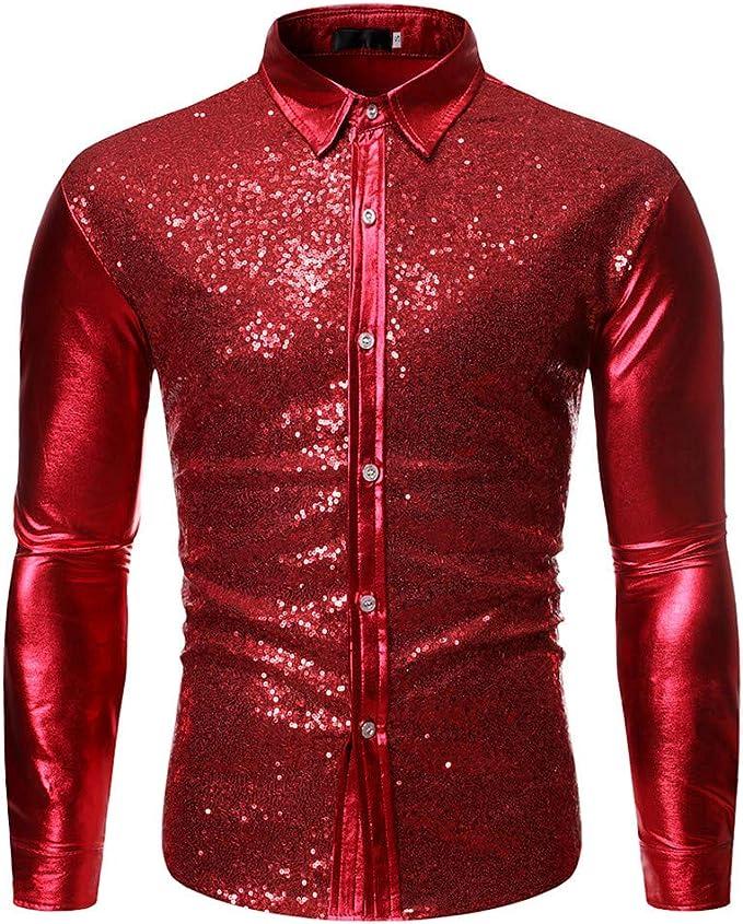 Herren Samt Hemd Bluse T-Shirt Rollkragen Pullover Freizeit Retro Glänzend