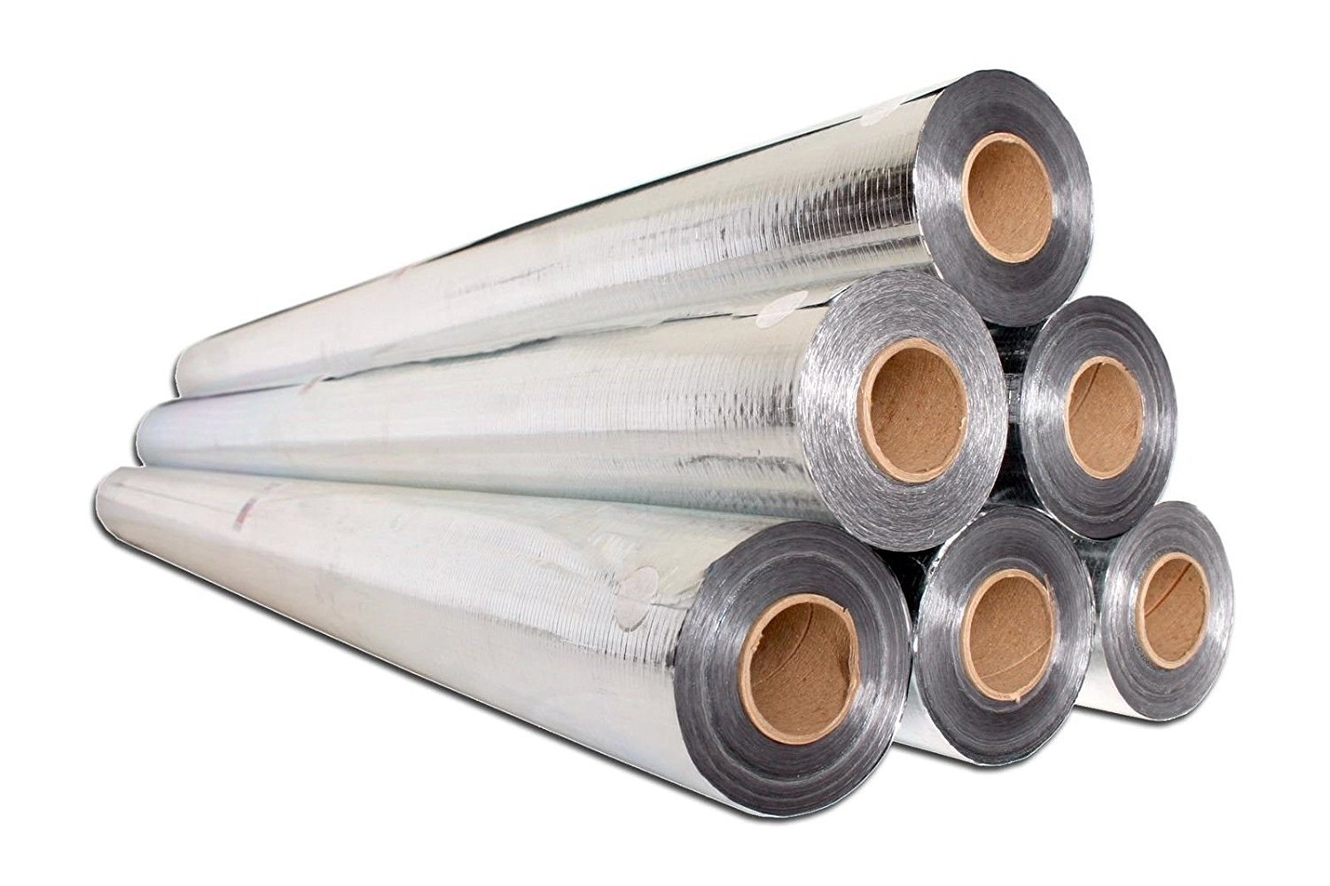 1000 sqft Radiant Barrier Attic Insulation Aluminum Foil Roll 1000 Square Ft 250 x 4 Feet Reflective Insulation Scrim Reinforced Backed Material Heat Barrier Attic House Wraps Tear Proof Strong 4x250 by AES (Image #2)