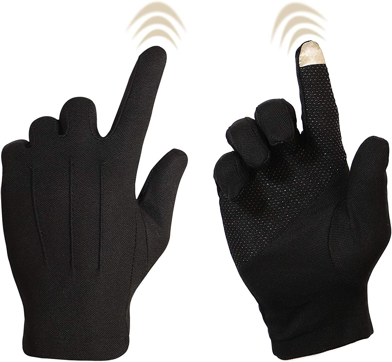 Bienvenu Driving Gloves for Men, Non Slip Touchscreen, Summer Sun Protection Gloves, Black: Clothing
