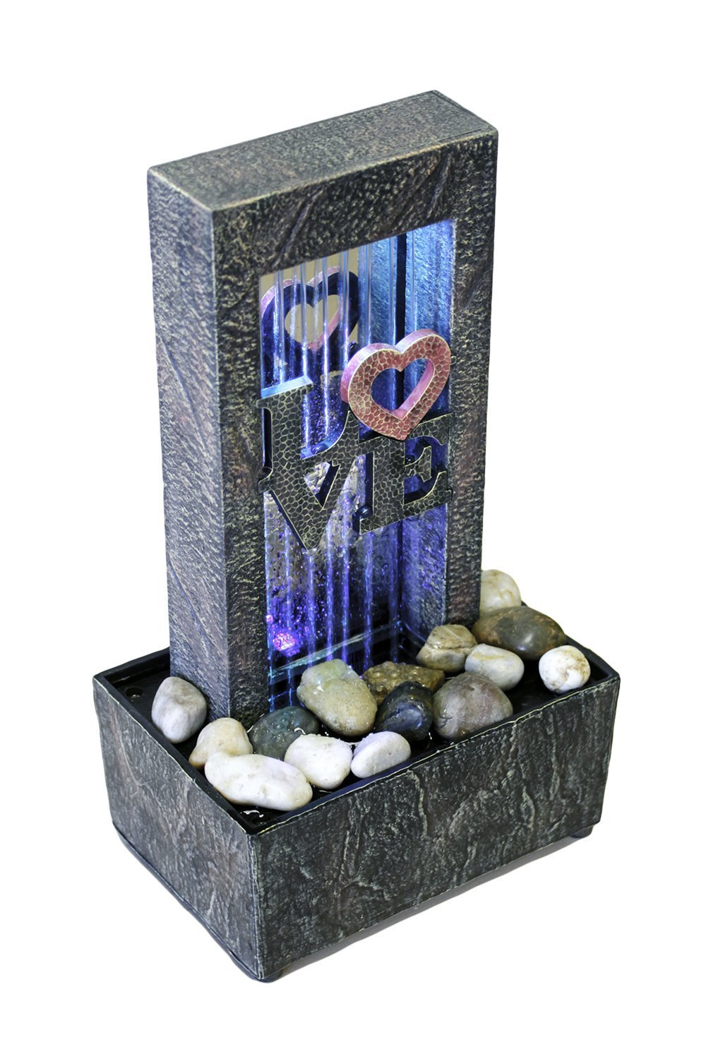 Newport coast collection Raining Love Color Changing LED Fountain 10075