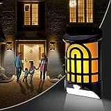 Solar Flame Wall Lights Outdoor 2 Packs, Geahod Solar Flame Lights with Dark Sensor Auto On/Off, Waterproof Landscape Lightin