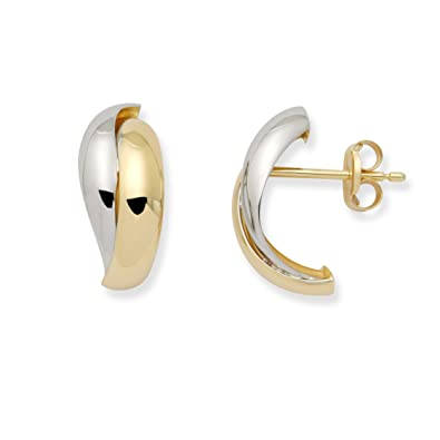 Miore MA132E Women's Stud Earrings 14?Carat 585 Yellow Gold/White wnT7lsHL