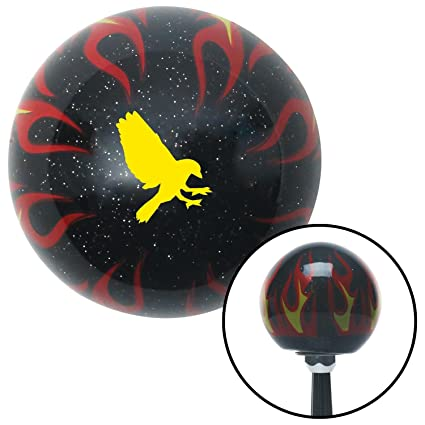 American Shifter 261028 Green Flame Metal Flake Shift Knob with M16 x 1.5 Insert White Fancy Solid Directional Arrow Up