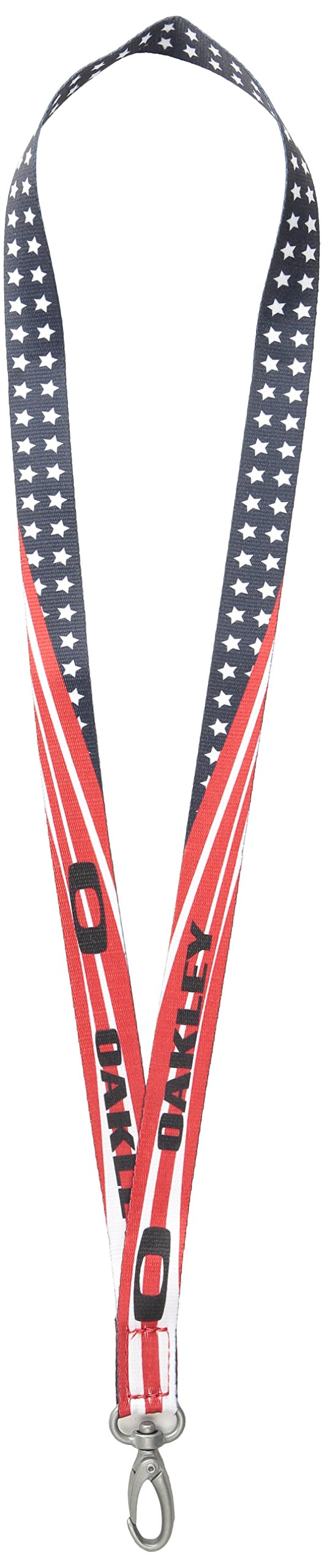 Oakley Men's Square O Lanyard Belt, White/Red, One Size
