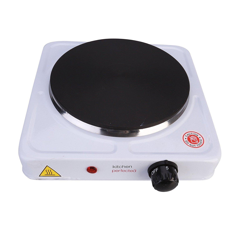 Lloytron E4101WH Kitchen Perfected Single Hotplate, 1500 W, White [Energy Class A]