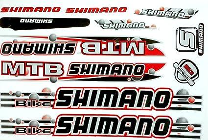 Shimano lámina de pegatinas para bicicleta BMX 10 Deco para ...