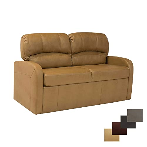 RecPro Charles 65 Jack Knife RV Sleeper Sofa with Arms RV Furniture Zero Wall Hugger Toffee