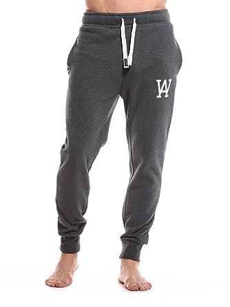 WOLDO Athletic - Pantalones Jogger - Pantalón para Hombre Deportes  Pantalones Gym Fitness Pantalón Slim Fit Estrecho Eng Scott Dunkelgrau-weiß  M  Amazon.es  ... b5c1ab8d5ec7c