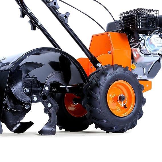Fuxtec – FX-AF200 Fresadora de jardín a gas, máquina agrícola para arar el cultivo, con ruedas, 196 cm^3, 4,8 kW/6,5ps