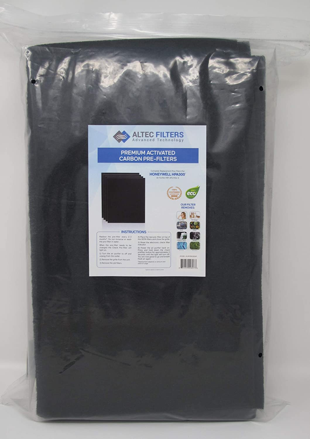 Premium Quality Replacement PreFilters HW HRF-AP1 Filter A 6 Pack Altec Filters 6 Activated Carbon Pre-Filters Compatible with HPA300 Air Purifier