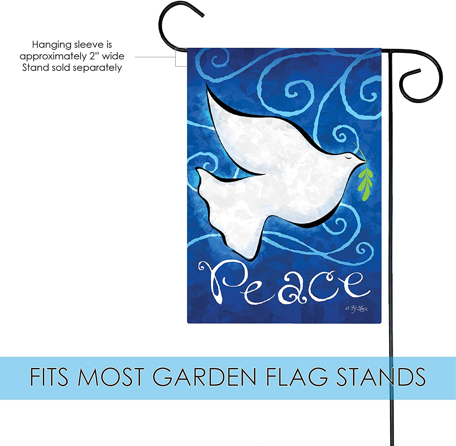 Amazon Com Toland Home Garden Snow White Dove 12 5 X 18 Inch Decorative Inspirational Peace Bird Garden Flag 1110458 Garden Outdoor